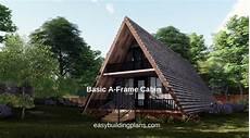 basic a frame cabin easybuildingplans
