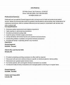 Dental Hygienist Resume Sample Dental Hygienist Resume 8 Examples In Word Pdf