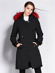 womwn coats zipper thick winter parka coats womens with faux fur