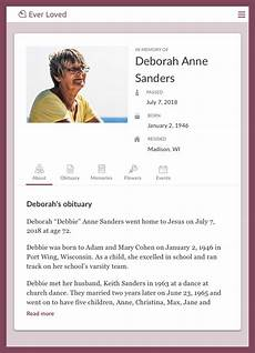 Example Obituary Top Free Obituary Templates Ever Loved