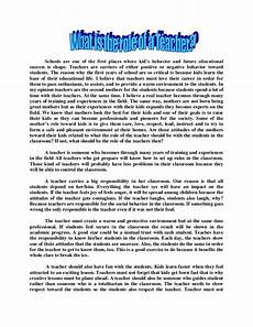 How To Essay Example For Kids Teachers Essay