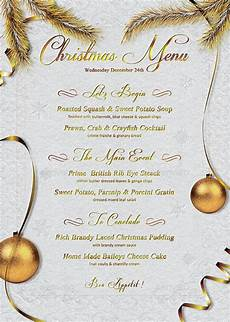 Free Blank Christmas Menu Templates 41 Sample Christmas Menu Templates Word Psd Ai Free