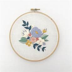 embroidery floral floral spray pdf embroidery pattern digital