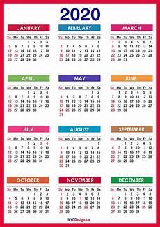 2020 Us Calendar Printable Collect Free 2020 Calander Sunday To Saturday Calendar