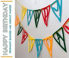 Birthday Banner Maker How To Make A Felt Happy Birthday Pennant Banner With