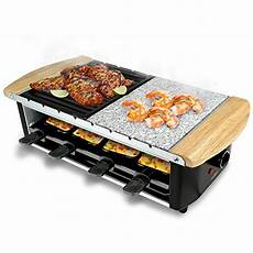 nutrichef raclette grill raclette cheese 8 person party