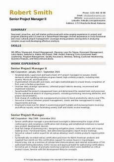 Examples Of Project Management Resumes Senior Project Manager Resume Samples Qwikresume