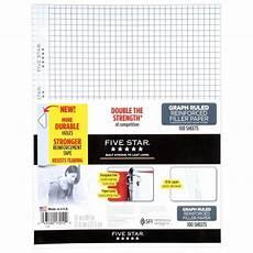 Graph Paper Star Five Star 100ct Graph Ruled Reinforced Filler Paper Target