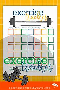 Printable Exercise Tracker Printable Exercise Tracker Sunshine And Rainy Days