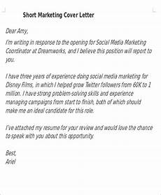 Short Cover Letters Short Cover Letters 9 Free Word Pdf Format Download
