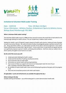 Training Invitation Template Invitation To Volunteer Walk Leader Training