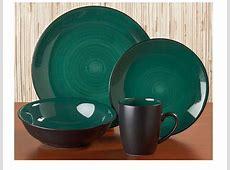 McLeland Design 16 Pc. Dinnerware Set Green/Black   SOTA