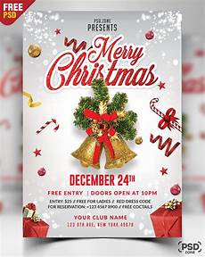 Christmas Flyer Templates Free Merry Christmas Flyer Free Psd Psd Zone