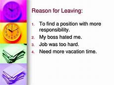 Best Reason For Leaving Reason For Leaving Job On Application Form Career Cliff