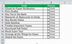 Create Checklist In Excel Checklist In Excel How To Create Checklist In Excel