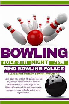 Bowling Flyer Bowling Flyer Template Postermywall