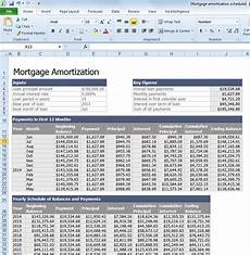 Mortgage Amortization Excel Download Calculate Mortgage Loan Amortization With An Excel Template