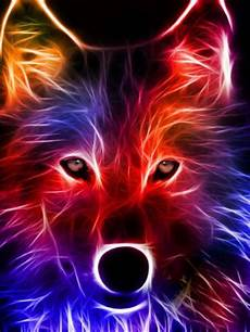 Cool Moving Designs A Drawing Of A Colorful Wolf Wolf Wallpaper Wolf