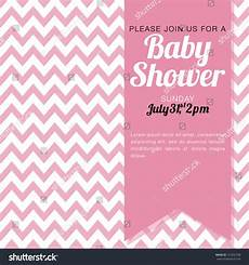 Baby Shower Invite Backgrounds Baby Shower Invitation Baby Girl Pink Stock Vector