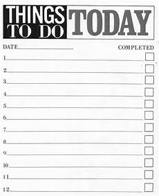 Things To Do Template Printable 10 Printable To Do List Templates Excel Templates