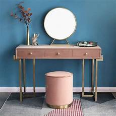 gold makeup vanity with drawers pink green velvet