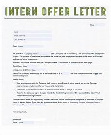 Other Words For Internship 8 Internship Offer Letters Free Samples Examples