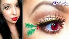 makeup christmas mistletoe eyeshadow tutorial by eyedolizemakeup