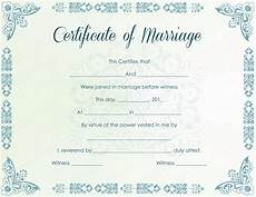 Fake Certificates To Print Marriage Certificate Template 22 Editable For Word