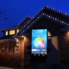 Christmas Light Show Kit Lowes 100 Kit Everlights Permanent Rgb Led Christmas Lights