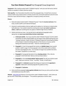 A Modest Proposal Essay Modest Proposal Essay Ideas How To Write A Modest