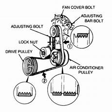 Some Engines Utilize An Idler Pulley With A Locknut At Its