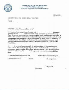 Air Force Letter Of Recommendation For Special Duty Assignment Advice On A Letter Of Recommendation Airforce