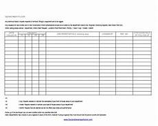Maintenance Log Sheet Maintenance Log Sheet Food And Beverage Trainer