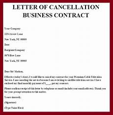 Cancellation Of Contract Contract Termination Letter Real Estate Forms