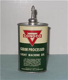 Oil Can Light Vintage 1940 S Conoco Oil Can Germ Processed Light Machine