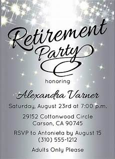 Retirement Party Invitation Template Word Free Printable Retirement Party Invitations Party