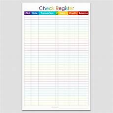 Numbers Check Register Template Checkbook Register 5 1 2 Quot X 8 1 2 Quot Legacy Templates