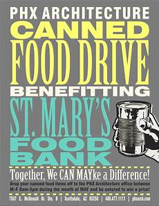 Can Food Drive Flyer April 2014 Phx Architecture