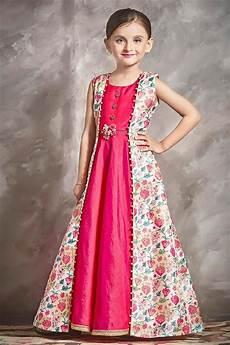 buy stylish party wear pink color banarasi silk fabric