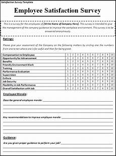 Survey Sheet Template Satisfaction Survey Template Free Printable Word Templates