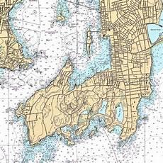 Chart House Narragansett Rhode Island Newport Nautical Chart Decor Maps