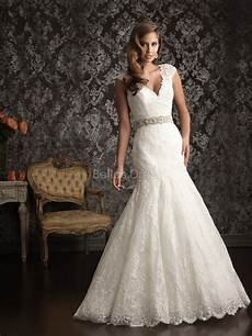 lace wedding dress with mermaid silhouette sang maestro