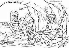 malvorlage steinzeit familie geschichte ausmalbilder
