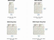 Ikea Duvet Sizes Chart Ikea 174 Mattress Sizes Chart To Compare Differences In