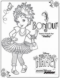 Coloring Pag Fancy Nancy Coloring Page Activity Disney Family