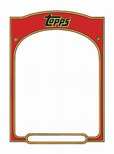 Baseball Card Template Free Sports Trading Card Templet Baseball Card Template