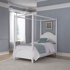 home styles bermuda brushed white canopy bed
