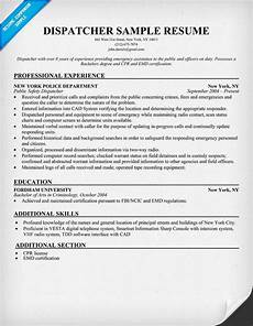 Dispatcher Resume 15 Best Images About Career On Pinterest See World Jobs