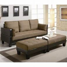 brown fabric sofa bed and ottoman set a sofa