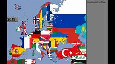 Flags Timeline Europe Timeline Of National Flags 1000 2019 Youtube